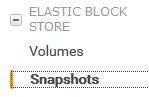 EBS Snapshot option