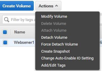 Create snapshot of EC2 instance
