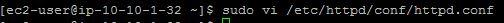 Edit httpd.conf file