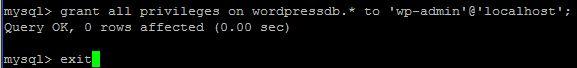 Grant MYSQL permissions