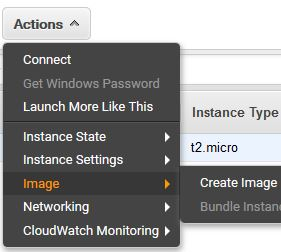 Create Amazon AMI from running instance